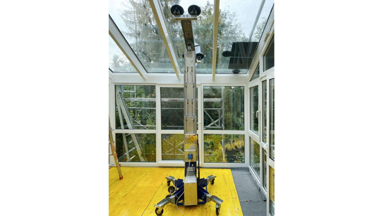 Einsatz unseres Glasmontagelifter