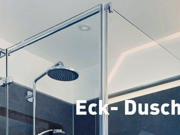 Ganz-Glas Eck-Duschen Typ 2