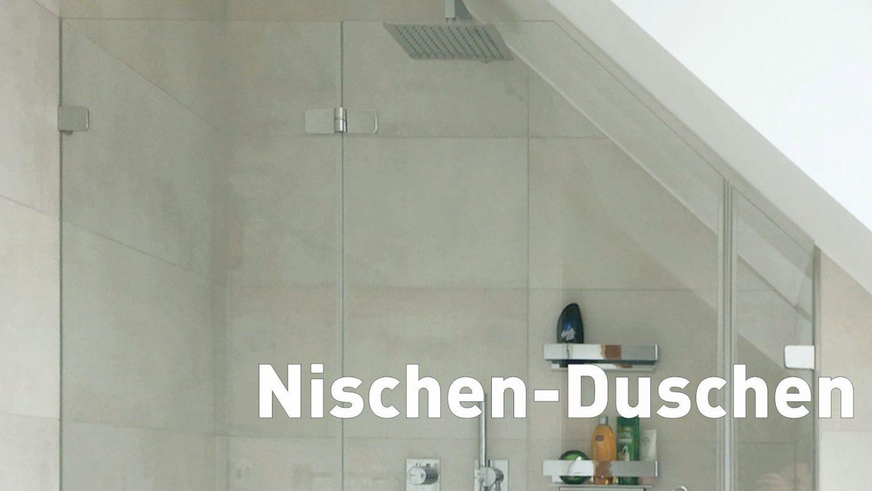 Nischen-Duschen Typ 1