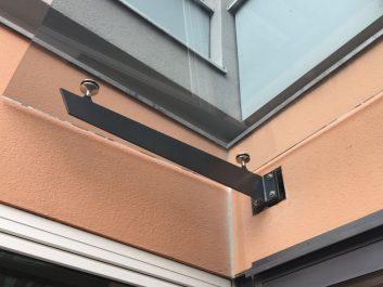 Glasvordach Befestigt Durch Edelstahl-Schwertträger