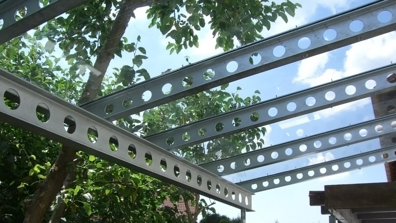 Glas Schutzdach für Carport