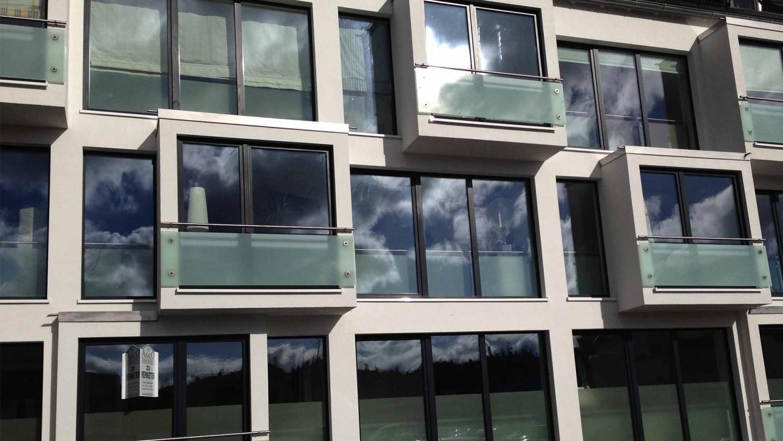Glasgeländer für französiche Balkone