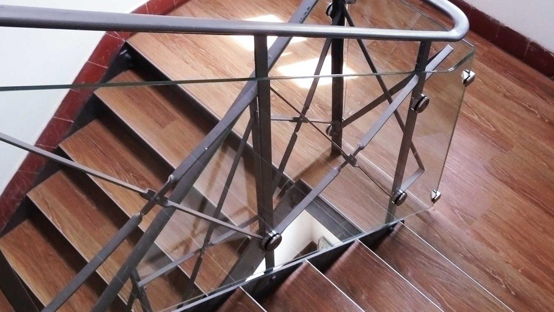 Balustrade aus Glas