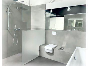 Duschtrennwand Teilsatiniert Mit Handtuchhalter