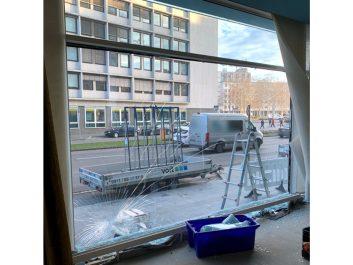 Glasschaden Schaufenster