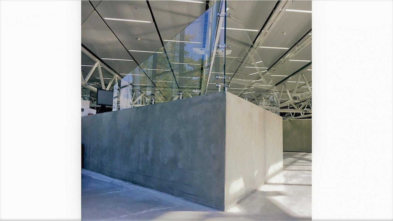 Glastrennwand im Empfangsbereich