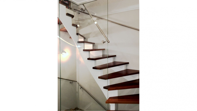 Glasbalustrade für Treppen