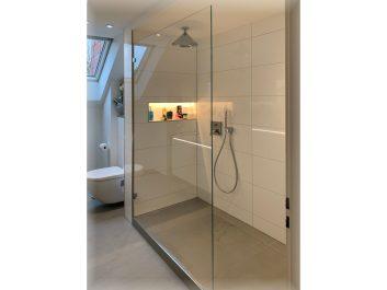 Offene Dusche Mit Glasabtrennung